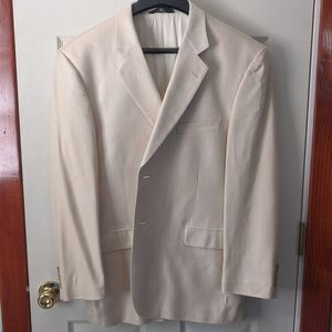 Haggar Black Label cream colored dress jacket